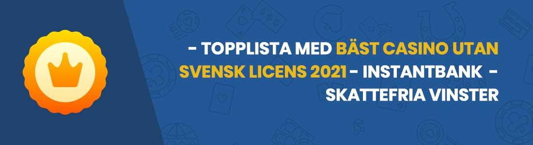 bäst casino utan svensk licens topplista