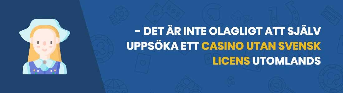 casino utan svensk licens lagar och regler